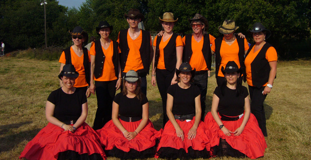 demo country et square dance à Lesnoyal